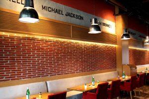 L.A. FİELD CAFE - iç cephe duvar kaplama panel tuğla kerme beton galita