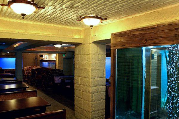 RESTORAN - iç cephe duvar kolon tavan kaplama panel taş shayka tuğla barcha