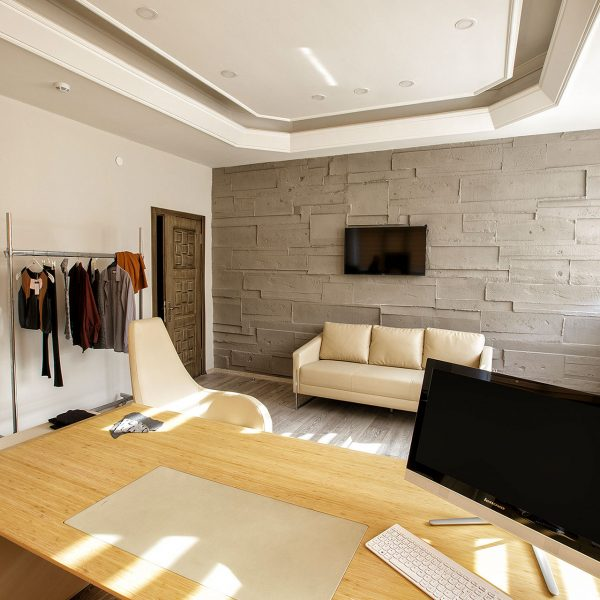 MERTER BEBE PLUS - duvar pael kaplama beton desiada ofis mağaza tasarım