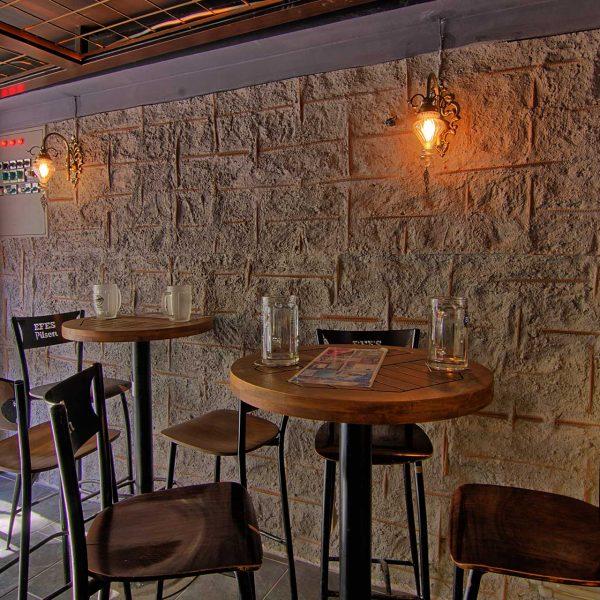 MODA PUB - duvar kolon kiriş kaplama panel burgaca beton tasarım showroom mağaza cafe