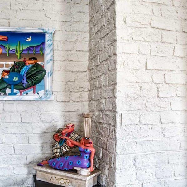 KONUT - iç cephe duvar kolon kaplama panel tuğla burton